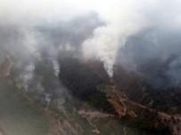 AMANOS DAĞLARI - Teröristlerin Çıkardığı Orman Yangını Sürüyor