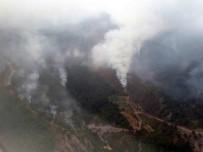 AMANOS DAĞLARI - Teröristlerin Çıkardığı Orman Yangınını Söndürme Çalışmaları Sürüyor