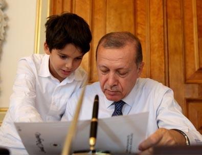 Cumhurbaşkanı Erdoğan'dan torun paylaşımı!