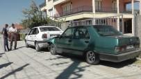 TEVFİK FİKRET - Kavga Ettiği Komşusunun Otomobiline Zarar Verdi