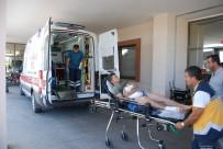 YÜKSEK GERİLİM HATTI - Adıyaman'da Elektrik Akımına Kapılan İşçi Ağır Yaralandı