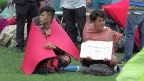 ÖLÜM TEHLİKESİ - İade Edilmek İstemeyen Afganlardan Viyana'da Oturma Eylemi