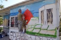 EMIN ÖZTÜRK - Çanakkale Ruhunu Muhtarlığın Duvarlarına Yansıtıyorlar