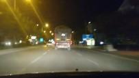 AMATÖR KAMERA - Makas Atıp Işık İhlali Yapan Tır Sürücüsü Trafiğe Tehlikeye Düşürdü