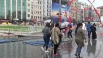 ŞİDDETLİ YAĞIŞ - Taksim Savaş Alanına Döndü, Kapalıçarşı'yı Su Bastı