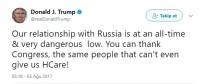 SAĞLIK SİGORTASI - ABD Başkanı Trump Açıklaması 'Rusya Ve ABD İlişkileri Tüm Zamanların En Düşük Seviyesinde'