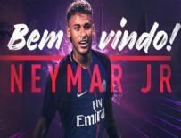 NEYMAR - Neymar, Paris Saint-Germain ile sözleşme imzaladı