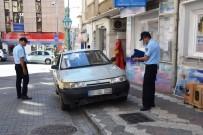 KALDIRIM İŞGALİ - Süleymanpaşa'da Kaldırımlara Park Eden Araçlara İşlem Yapılıyor