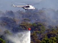 Milas'ta Görevli Helikopter Gürcistan'daki Yangına Destek İçin Havalandı