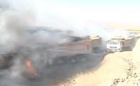 ÖRGÜT PROPAGANDASI - Teröristler İş Makinelerini Ateşe Verdi