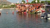 ORTAKENT - Zafer Bayramı'nı 2 Kilometre Yüzerek Kutladılar