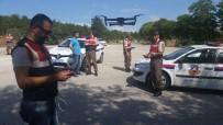HATALı SOLLAMA - Eskişehir'de Jandarma Havadan Trafik Kontrolü Yapmaya Başladı
