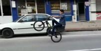 YENI CAMI - Gençlerin Tek Tekerlek Üzerindeki Tehlikeli Oyunu