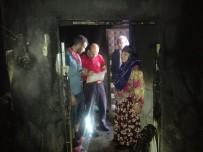 ELEKTRİK KONTAĞI - Kırsal Mahallede Yanan Ev Küle Döndü