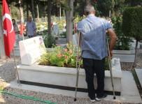 FATMA GÜLDEMET - Koltuk Değnekleriyle Şehit Mezarlarından Tek Tek Dua Okudu