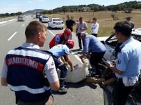 Yok Böyle Bir Kaza...Kazada Sıkışan Keçiyi İtfaiye Kurtardı