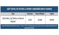 75,7 milyon cep telefonu, 64,3 milyon internet aboneliği