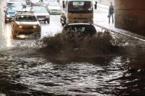 DOLU YAĞIŞI - Konya'da Kısa Süreli Yağış Etkili Oldu