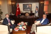 HÜSEYIN AKSOY - Vali Aksoy'dan Başkan Köşker'e Ziyaret