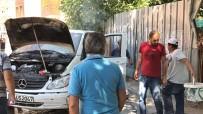 AMATÖR KAMERA - Yanan Arabayı Otoparka Bıraktı