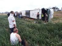 Amasya'da Otobüs Kazası Açıklaması Ölü Ve Yaralılar Var
