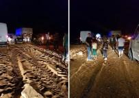 Denizli'de Yem Kamyonu Devrildi Açıklaması 1 Ölü, 2 Yaralı