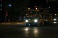 AFRİN - Suriye sınırına gece yarısı askeri sevkiyat