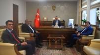 BERKAN SÖNMEZAY - Güreş Federasyonu Başkanı Aydın'dan Vali Büyükakın'a Ziyaret