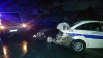 Kaza Yerinde Önlem Alan Polis Ve Jandarma Aracına Tır Çarptı Açıklaması 6 Yaralı