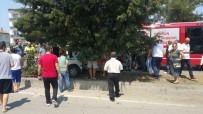 MIMARSINAN - Samsun'da Tır Otomobile Çarptı Açıklaması 4 Yaralı