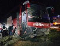 Ankara'da yolcu otobüsü yoldan çıktı: 9 yaralı
