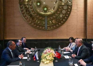Dışişleri Bakanı Çavuşoğlu Lavrov'la Suriye'yi görüştü
