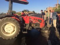Traktör İle Otomobil Çarpıştı Açıklaması 3 Yaralı