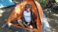 BİSİKLET TURU - Görme Engelli Bisikletçiler Burhaniye'de Kamp Yaptı