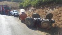 Traktör Devrildi Açıklaması 2 Ölü, 1 Yaralı