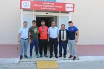 Dünya Üçüncüsü Güreşçi Aktürk İl Müdür Vekili Bektaş Ziyaret Etti