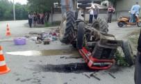 BERFIN - Fındık İşçilerini Taşıyan Traktör Devrildi Açıklaması 2'Si Ağır, 18 Yaralı