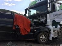 Süt Tankeri İle Cip Çarpıştı Açıklaması 1 Ölü, 5 Yaralı