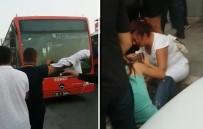 HALK OTOBÜSÜ - Vatandaşlar geç gelen otobüse saldırdı