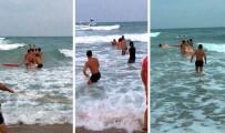 KIYI EMNİYETİ - Yasağa Rağmen Denize Girdiler, Son Anda Kurtarıldılar