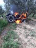 Zeytin Sularken Traktörü Yandı