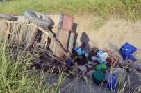 HACıRAHMANLı - İşçilerin Bulunduğu Römork Kanala Yuvarlandı Açıklaması 19 Yaralı