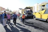 KARAKÖPRÜ - Karaköprü'de Sıcak Asfalt Çalışması