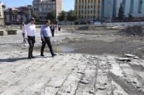 KIŞ MEVSİMİ - Rabia Meydanında İzolasyon Çalışması Devam Ediyor