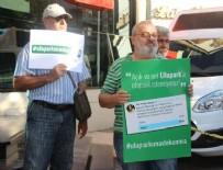 AĞAÇ KESİMİ - Ağaçsız alanda 'ağaç kesilecek' iddiasıyla eylem yaptılar