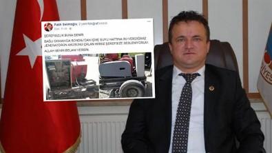 AK Partili Başkan çileden çıktı: Allah belanı versin