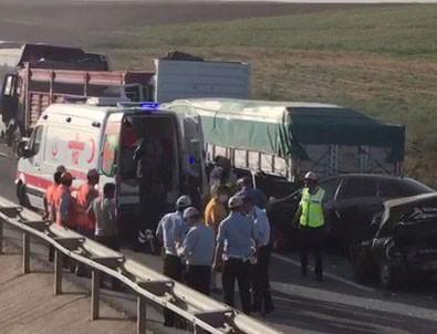 Eskişehir'de anız yangını zincirleme kazaya neden oldu