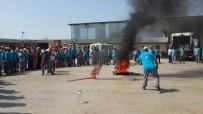 YANGIN TATBİKATI - Belediye Personeline Yangın Tatbikatı