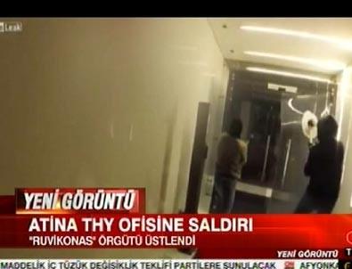 THY Atina ofisine çirkin saldırı