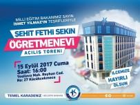 KÜÇÜKÇEKMECE BELEDİYESİ - Küçükçekmece Belediyesi Şehit Fethi Sekin Öğretmenevi Hizmete Açılıyor